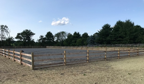 An example of Geiler Excavating's services showing a true understanding of the nuances of equestrian ring construction.